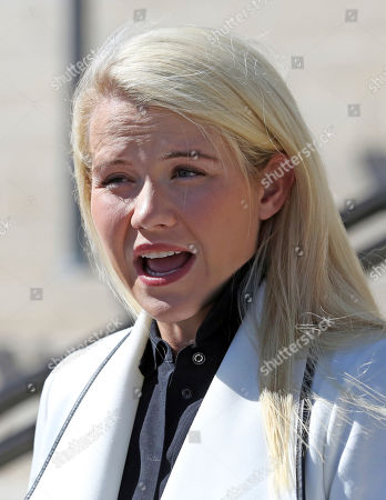 Elizabeth Smart speaks during a news conference, in Salt Lake City. Smart says it appears there is no viable, legal recourse she can take to stop the release of one of her kidnappers. Smart said that she only found out about 72-year-old Wanda Barzee's release shortly before the public did