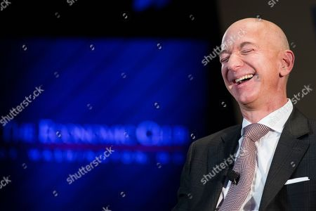 Jeff Bezos, Amazon founder and CEO, speaks at The Economic Club of Washington's Milestone Celebration in Washington, . Bezos said Thursday that he is giving $2 billion to start the Bezos Day One Fund which will open preschools in low-income neighborhoods and give money to nonprofits that helps homeless families