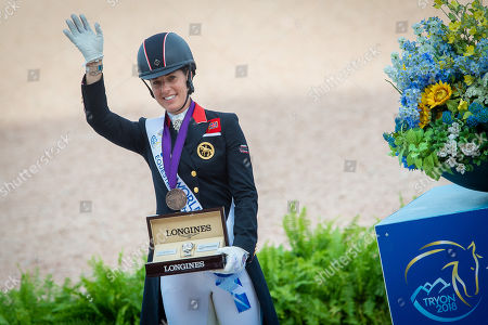 Charlotte Dujardin (GBR), Bronze medalist - Dressage - Grand Prix Special - FEI World Equestrian Games- Tryon 2018 - Tryon, North Carolina, USA - 14 September 2018