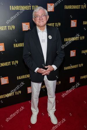 "Television host Phil Donahue attends the premiere of ""Fahrenheit 11/9"" at Alice Tully Hall, in New York"