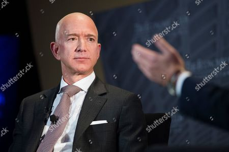 Jeff Bezos, Amazon founder and CEO, speaks at The Economic Club of Washington's Milestone Celebration in Washington, . Bezos said that he is giving $2 billion to start the Bezos Day One Fund which will open preschools in low-income neighborhoods and give money to nonprofits that helps homeless families