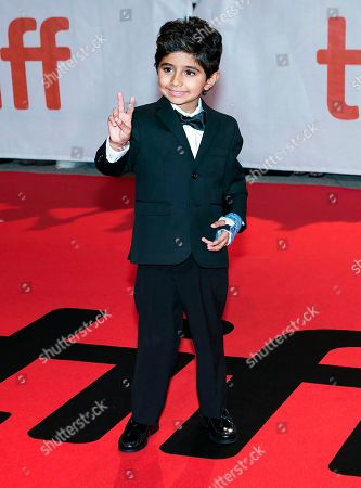 "Actor Parker Sevak poses for photographs on the red carpet for the new movie ""The Kindergarten Teacher "" during the 2018 Toronto International Film Festival in Toronto on"