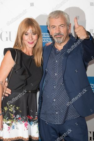 Stock Photo of Patricia Santamaria and Carlos Sobera