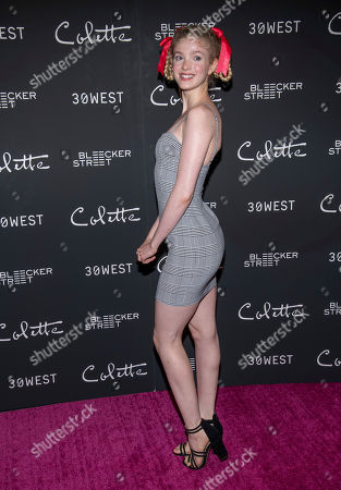 """Elena Kampouris attends a screening of """"Colette"""" at The Museum of Modern Art, in New York"""