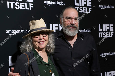 "Mandy Patinkin, Kathryn Grody. Kathryn Grody, left, and Mandy Patinkin arrive at the LA Premiere of ""Life Itself"" at the Hollywood ArcLight, in Los Angeles"