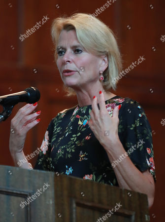Stock Image of Asa Regner, deputy executive director of the United Nations (UN) gender equality office, UN Women, delivers a special lecture at Ewha Womans University in Seoul, South Korea, 14 September 2018.