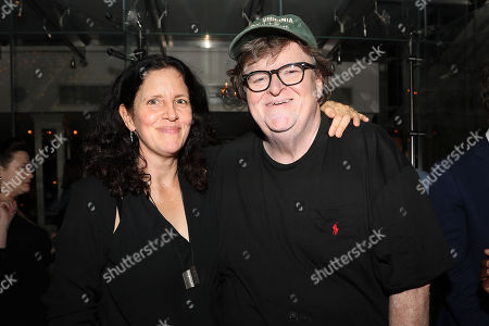 Stock Photo of Laura Poitras and Michael Moore (Director)