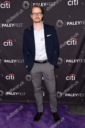 """Christoph Sanders attends the 2018 PaleyFest Fall TV Previews """"Last Man Standing"""" at The Paley Center for Media, in Beverly Hills, Calif"""