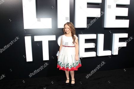 US actress/cast member Kya Kruse at the Premiere of Amazon Studios' Life Itself at ArcLight Cinerama Dome in Los Angeles California, USA, 13 September 2018. The film opens in US theaters on 21 September 2018.