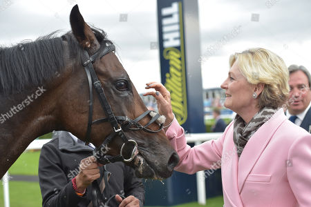 Lady Lloyd-Webber after Too Darn Hot had won The Howcroft Industrial Supplies Champagne Stakes.