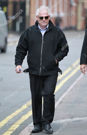 Gary Gardner arriving at Leicester Crown Court