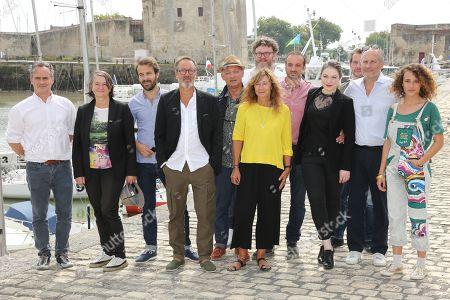 Team of 'A l'interieur' film with Antoine Gouy, Emilie Dequenne, Hippolyte Girardot, Callypso Buijtenhuijs