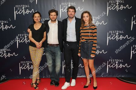 Stock Picture of Garance Marillier (R) and the team of 'Ad Vitam' film