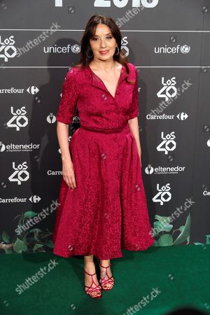Spanish singer Luz Casal poses as he arrives for the dinner party of nominees for Los40 Music Awards, in Madrid, Spain, 13 September 2018 (issued on 14 Sepember).