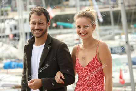 Stock Picture of Mathieu Metral and Tiphaine Daviot