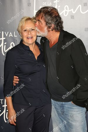 Muriel Robin and Olivier Marchal