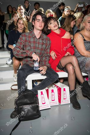 Stock Photo of Alfie Goffey and Daisy Lowe in the front row