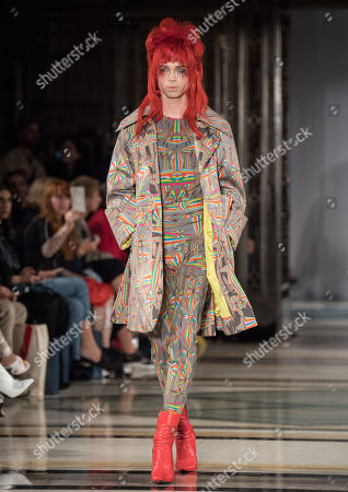 Stock Picture of Josh Quinton on the catwalk