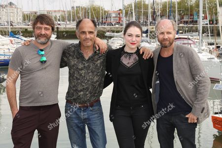 Stock Picture of Wim Willaert, Frederic Pierrot, Emilie Dequenne and Laurent Bateau