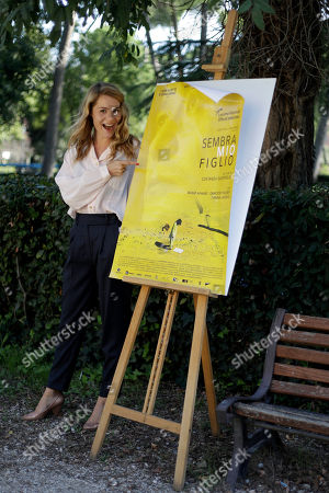"""Actress Tihana Lazovic poses for photographers during the photo call of the movie """"Sembra Mio Figlio"""" in Rome"""