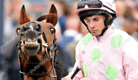 THOMAS HOBSON (Ryan Moore) before winning The Doncaster Cup Stakes Doncaster