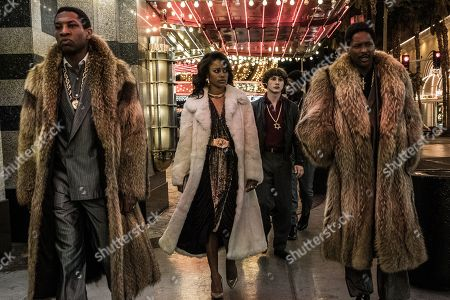 """Jonathan Majors as Johnny 'Lil Man' Curry, Taylour Paige as Cathy Volsan-Curry, Richie Merritt as Rick Wershe Jr., RJ Cyler as Rudell 'Boo' Curry, and """"Big Man"""", YG as Leo 'Big Man' Curry"""