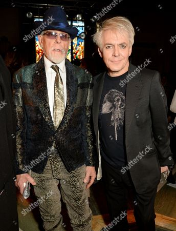 Antony Price and Nick Rhodes in the Front Row