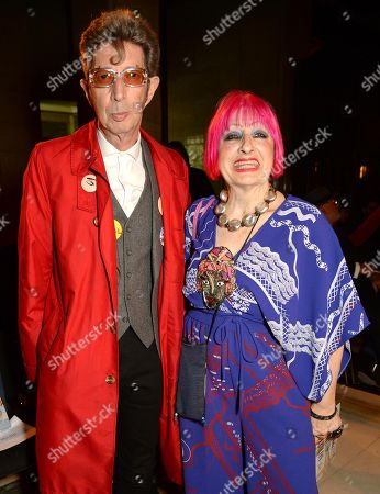 Stock Photo of Duggie Fields and Zandra Rhodes in the Front Row
