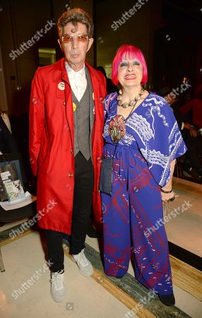 Editorial photo of Pam Hogg show, Front Row, Spring Summer 2019, London Fashion Week, UK - 14 Sep 2018