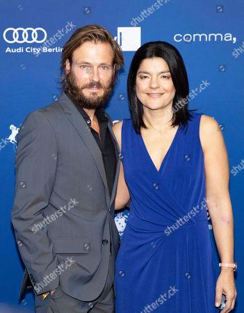 Jasmin Tabatabai and her husband Andreas Pietschmann arrive to the German Drama Award (Deutscher Schauspielpreis) in Berlin, Germany 14 September 2018.