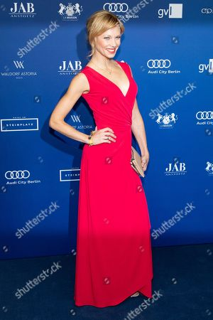 Stock Image of Birte Glang arrives to the German Drama Award (Deutscher Schauspielpreis) in Berlin, Germany 14 September 2018.