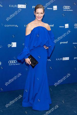 Stock Image of Lisa Martinek arrives to the German Drama Award (Deutscher Schauspielpreis) in Berlin, Germany 14 September 2018.