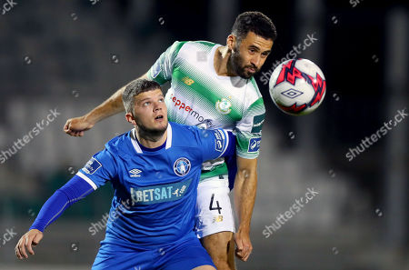 Stock Picture of Shamrock Rovers vs Limerick. Roberto Lopes of Shamrock Rovers with Danny Morrissey of Limerick FC
