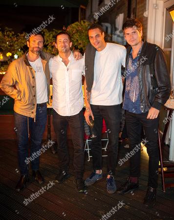 Jamie Mazur, Tyrone Wood, Jake Marant and Jamie Burke