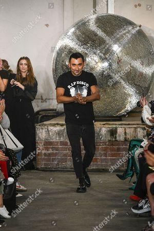 Nicola Formichetti on the catwalk
