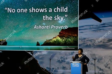 Astronaut Dr. Mae Jemison speaks during the Global Action Climate Summit, in San Francisco