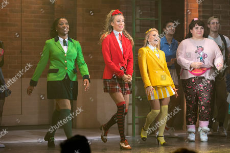 T'Shan Williams (Duke), Jodie Steele (Chandler) and Sophie Isaacs (McNamara) during the curtain call