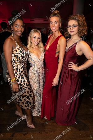 T'Shan Williams (Duke), Sophie Isaacs (McNamara), Jodie Steele (Chandler) and Carrie Hope Fletcher (Veronica Sawyer)