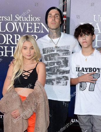 Travis Barker and kids Alabama Barker, Landon Barker