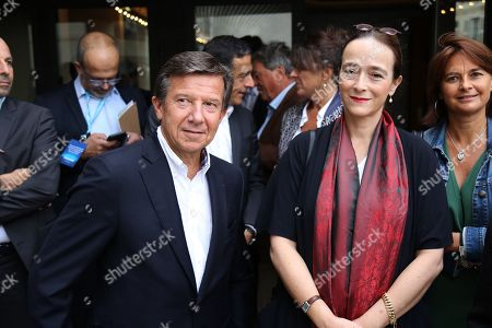 Gilles Pelisson (CEO of TF1 TV Channel) , and Delphine Ernotte-Cunci (CEO of France Television)