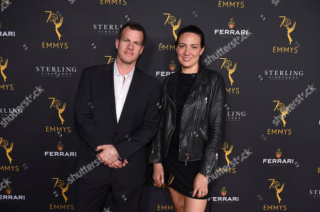 Lisa Joy and Jonathan Nolan attend the 2018 Producers Nominee Reception on in Beverly Hills, Calif