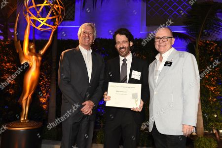John Ziffren, David Craig and Tim Gibbons attend the 2018 Producers Nominee Reception on in Beverly Hills, Calif
