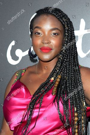 Nigerian actress Wunmi Mosaku poses at the premiere of Bleecker Street Media's Colette at Samuel Goldwyn Theater in Los Angeles California, USA, 14 September 2018.
