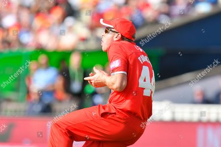 Wicket - James Faulkner of Lancashire catches Moeen Ali of Worcestershire off the bowling of Zahir Khan of Lancashire during the Vitality T20 Finals Day Semi Final 2018 match between Worcestershire Rapids and Lancashire Lightning at Edgbaston, Birmingham