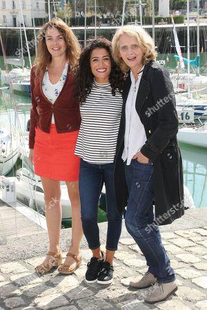Stock Image of Violaine Fumeau, Sabrina Ouazani and Florence Huige