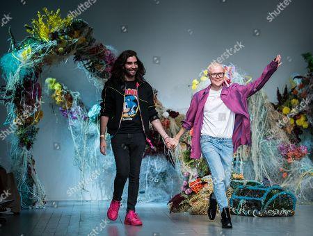 Stock Image of Fyodor Podgorny and Golan Frydman on the catwalk