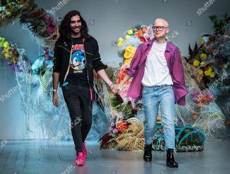 Stock Photo of Fyodor Podgorny and Golan Frydman on the catwalk