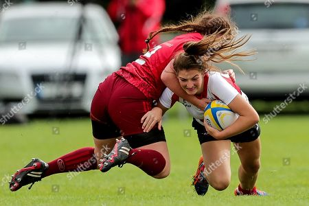 Munster vs Ulster . Ulster?s Zara Flack tackled by Sarah Murphy of Munster