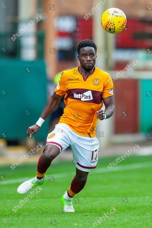 Gael Bigirimana (#17) of Motherwell FC during the Ladbrokes Scottish Premiership match between Motherwell and Heart of Midlothian at Fir Park, Motherwell