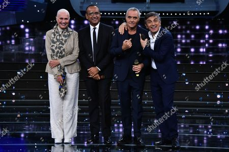 Loretta Goggi, Carlo Conti, Giorgio Panariello and Vincenzo Salemme